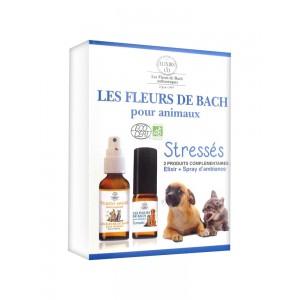 """ELIXIR + SPRAY POUR ANIMAUX """"STRESSÉS"""" LES FLEURS DE BACH"""