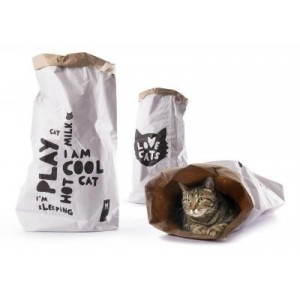 SAC EN KRAFT LOVE CATS BAG