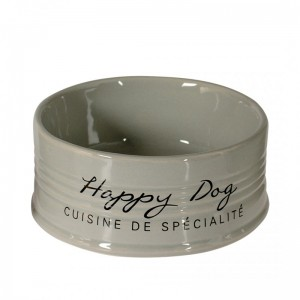 GAMELLE HAPPY DOG GRIS CLAIR