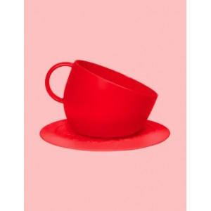 CUP BOWL+SET ROUGE 2500ML